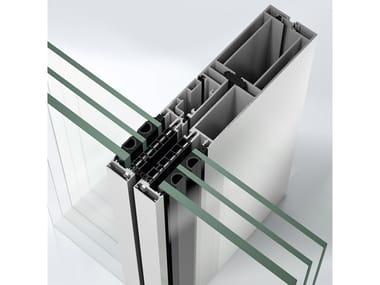 Sistema per facciata continua in alluminio Schüco AF UDC 80 CV