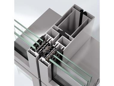 Sistema per facciata continua in alluminio Schüco AF UDC 80 SI