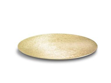 Decorative flat plate in DVNE aluminium Sfera Flat DVNE 40 Champagne