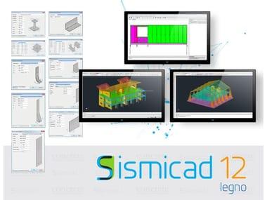 Software FEM di calcolo strutturale per elementi in legno Sismicad Legno