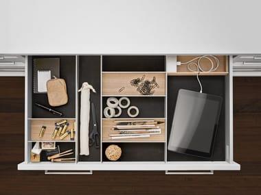 Aluminium and wood Drawer insert Interior Accessories