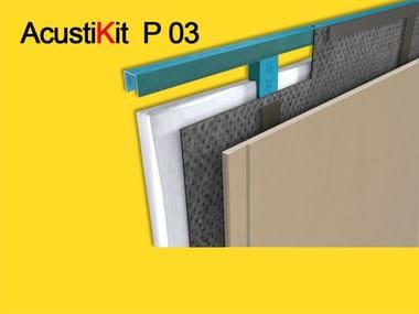 Rubber sound insulation panel ACUSTIKIT P03  ISOLANTE ACUSTICO PARETI