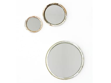 Round wall-mounted framed mirror Mirror