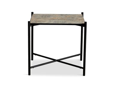 Square powder coated steel coffee table Side table