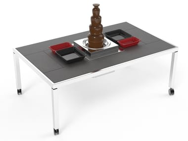 Dining table with chocolate fountain St. Moritz Dining Table