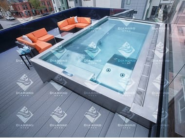 SPA浴缸 Stainless Steel Roof Top Hot Tub