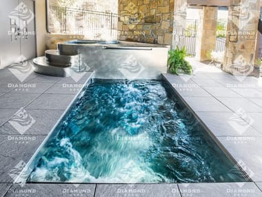 SPA浴缸 Stainless steel swim spa and hot tub