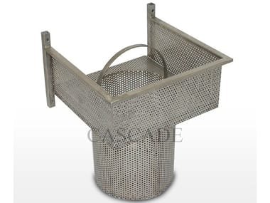 Stainless steel ground level fountains filter Stainless steel wall basket filter