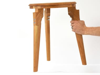 Low wooden stool Stool