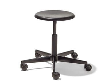 Height-adjustable stool with 5-spoke base MR. ROUND | Stool