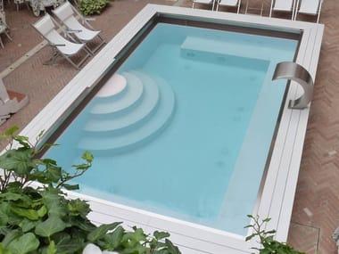 Überlauf- Schwimmbecken Überlauf- Schwimmbecken