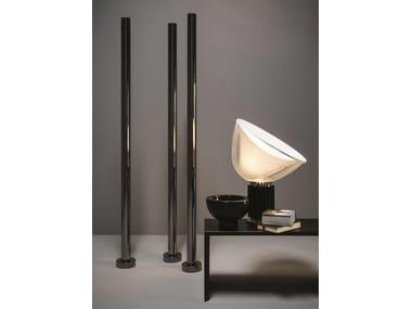 Floor-standing chromed brass decorative radiator T.B.T. | Floor-standing decorative radiator