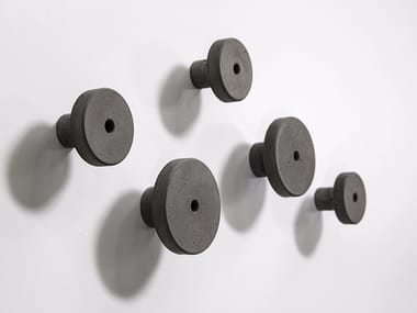Wall-mounted concrete coat rack T