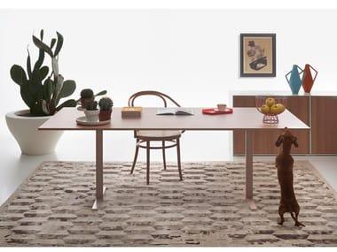 Scrivania / tavolo da riunione in legno T-LEG | Scrivania rettangolare