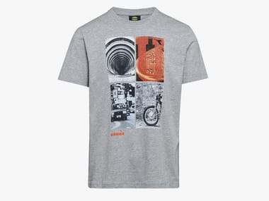 T-shirt da lavoro T-SHIRT GRAPHIC ORGANIC GRIGIO MELANGE MEDIO