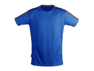 Work clothes T-SHIRT QUICK DRY AZZURRO/GRIGIO