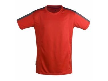 Work clothes T-SHIRT QUICK DRY ROSSO/GRIGIO