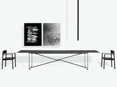 Mesa rectangular en acero y madera T.T.A.