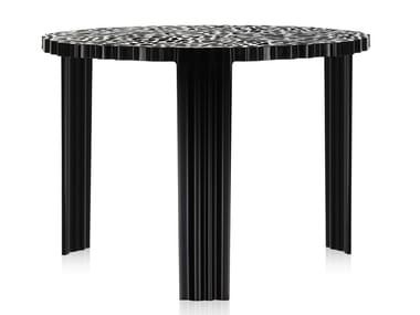Round coffee table KARTELL - T-TABLE Black
