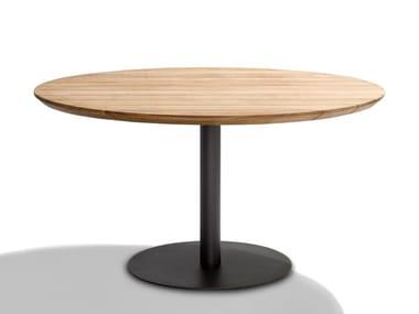 Round teak garden table T-TABLE | Round table
