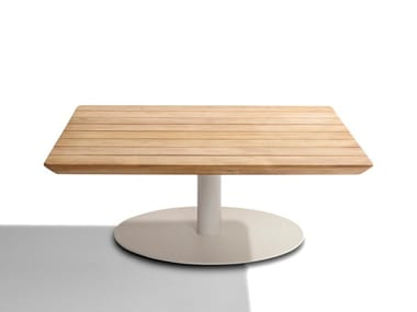 Low square teak garden side table T-TABLE   Square coffee table