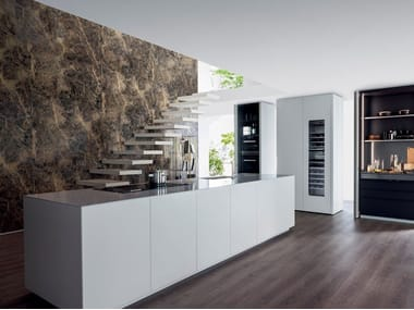 Lacquered kitchen with island T30 | Kitchen