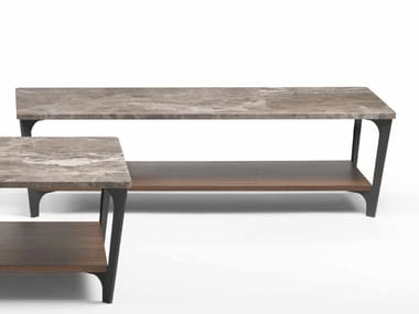 Low rectangular marble coffee table TAB | Rectangular coffee table