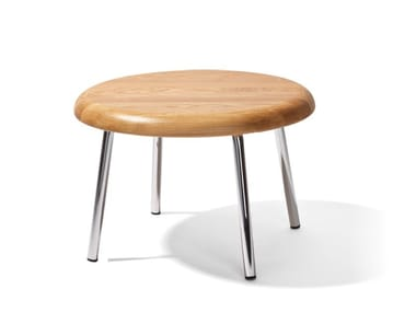 Round steel and wood coffee table TOM   Coffee table