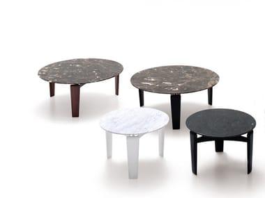 Mesa de centro baixa redonda de mármore TABLET