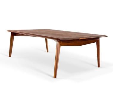 Rectangular walnut dining table TABULA RASA