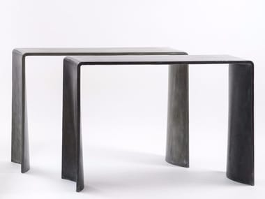 Rectangular cement console table TADAO | Console table