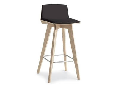 High upholstered stool with footrest TAIL I H.65/75