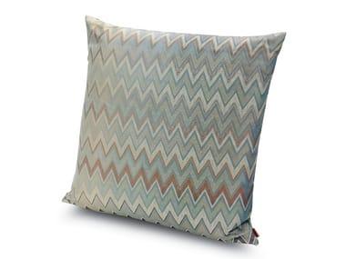 Cuscino in tessuto jacquard chevron metallico TAIPEI