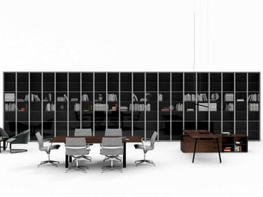 Open Modular tempered glass office shelving TAKE OFF | Tempered glass office shelving