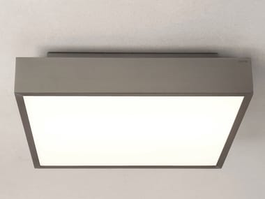 LED glass and steel ceiling light TAKETA 400