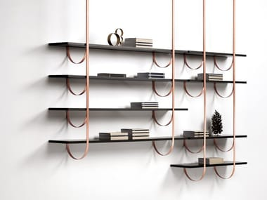 Floating metal bookcase TALEA
