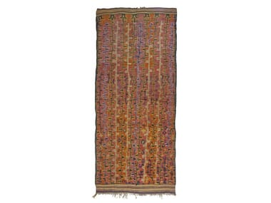 Patterned rectangular wool rug TALSENT TAA713BE