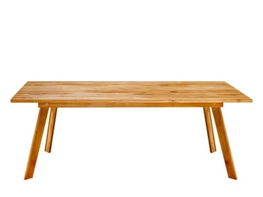Rectangular solid wood dining table TALUS | Dining table