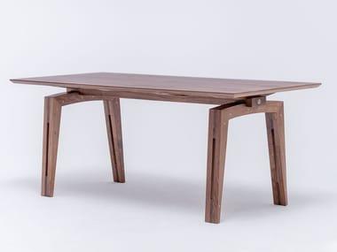 Tavolo da pranzo rettangolare in legno TAMAZO   Tavolo in legno