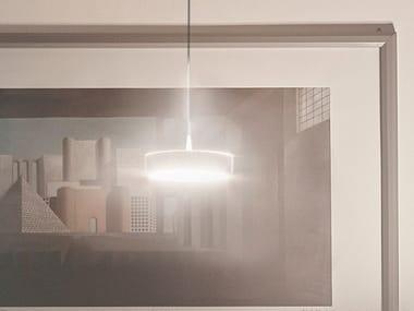 Lampada a sospensione a LED a luce diretta e indiretta in acciaio TAMBÙ | Lampada a sospensione