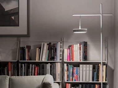 Lampada da terra a LED da lettura in acciaio TAMBÙ | Lampada da terra da lettura