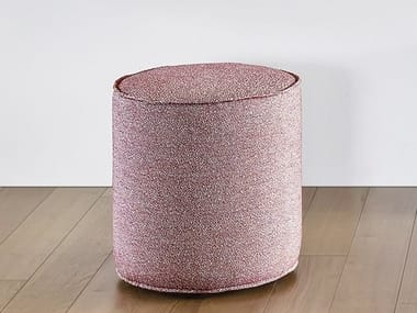 Upholstered round pouf TAMBURELLO