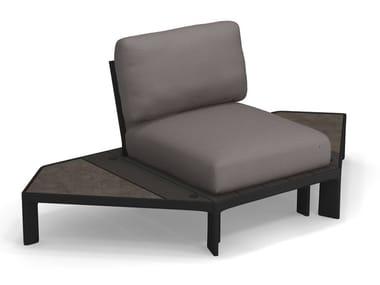 Corner upholstered fabric garden armchair TAMI | Corner garden armchair