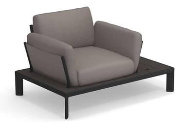 Fabric garden armchair with armrests TAMI | Garden armchair