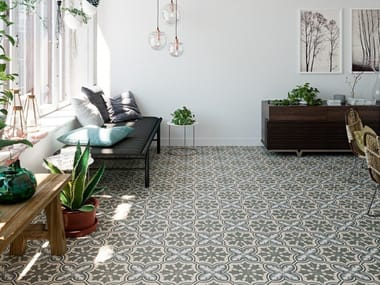 Porcelain flooring with encaustic effect TANGO
