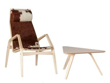 Tavolino da caffè basso rotondo in legno da salotto TANGO   Tavolino basso
