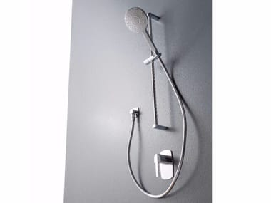 Chrome-plated shower wallbar with hand shower TANGO | Shower wallbar