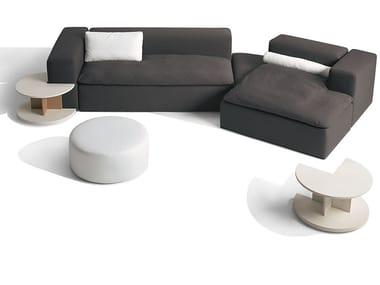 Sectional fabric sofa with integrated magazine rack TANGRAM   Sectional sofa