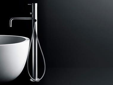 Floor standing bathtub mixer with diverter MINIMAL | Floor standing bathtub mixer