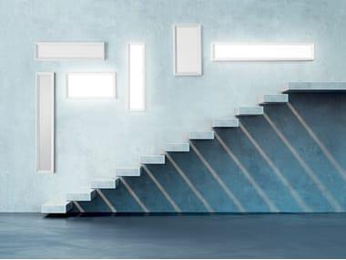 Lampada da parete / lampada da soffitto in alluminio e vetro TARA DIMMABLE